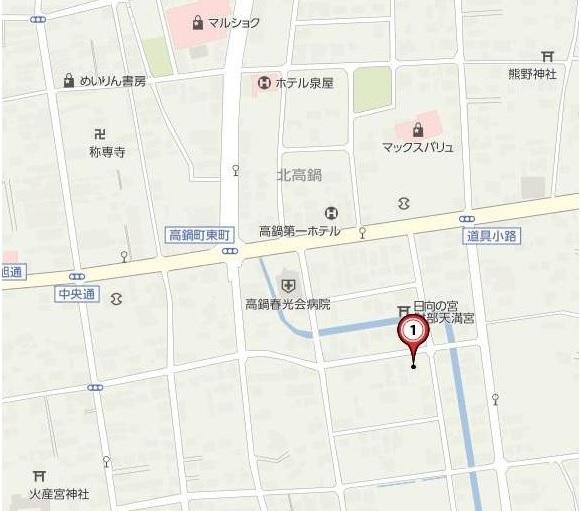 南高鍋910-1土地地図